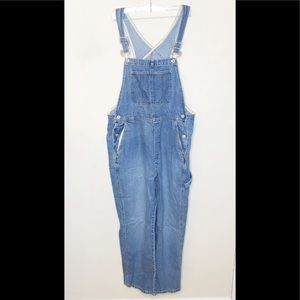 Y2K VTG Gap Denim Full Length Overalls Size Large